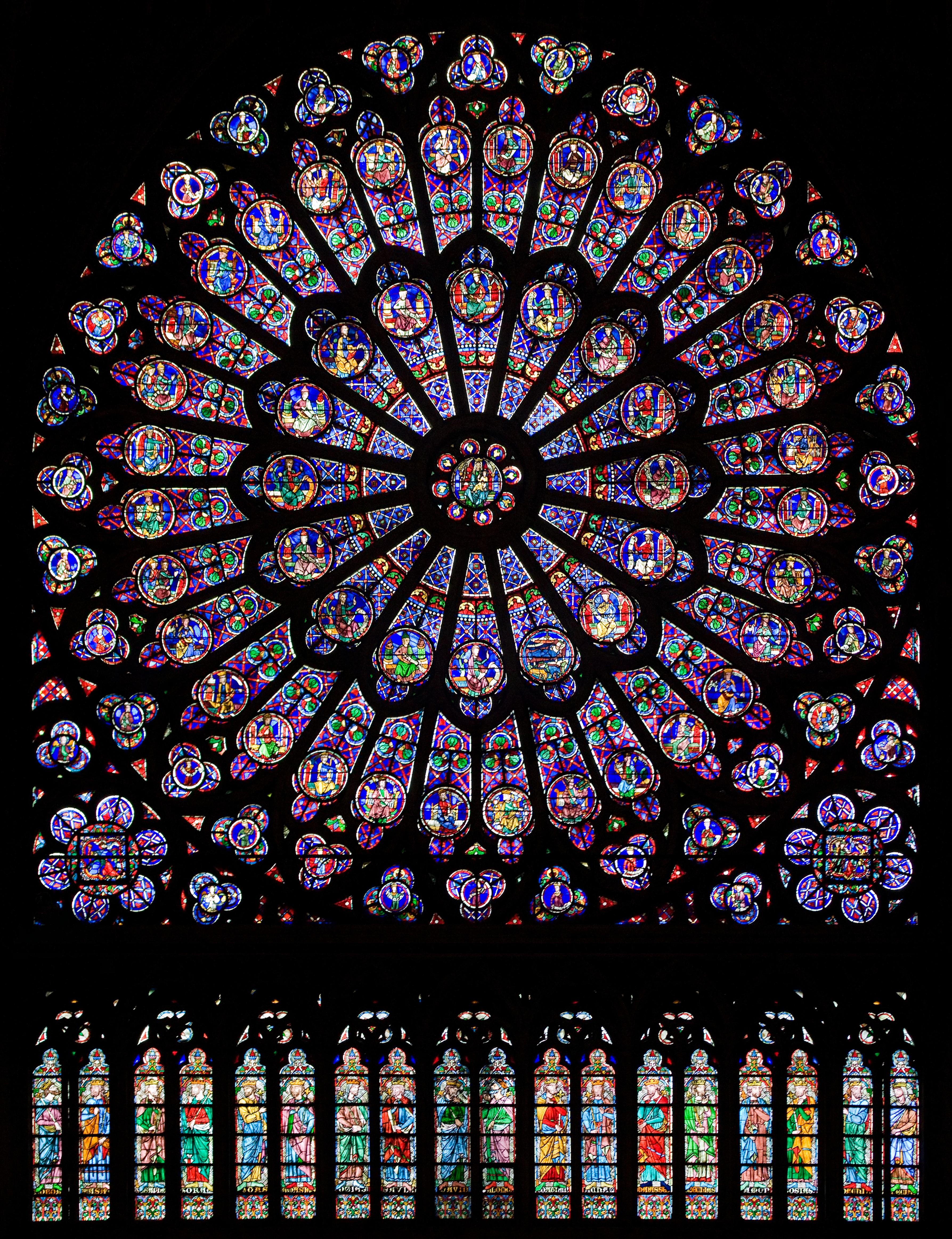 Собор Парижской Богоматери витражи северной розы.jpg