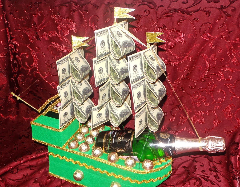 Корабль из конфет своими руками пошаговое фото для мужчин 68