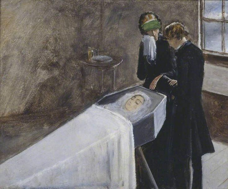 The Artist Attending the Mourning of a Young Girl by John Everett Millais.jpeg