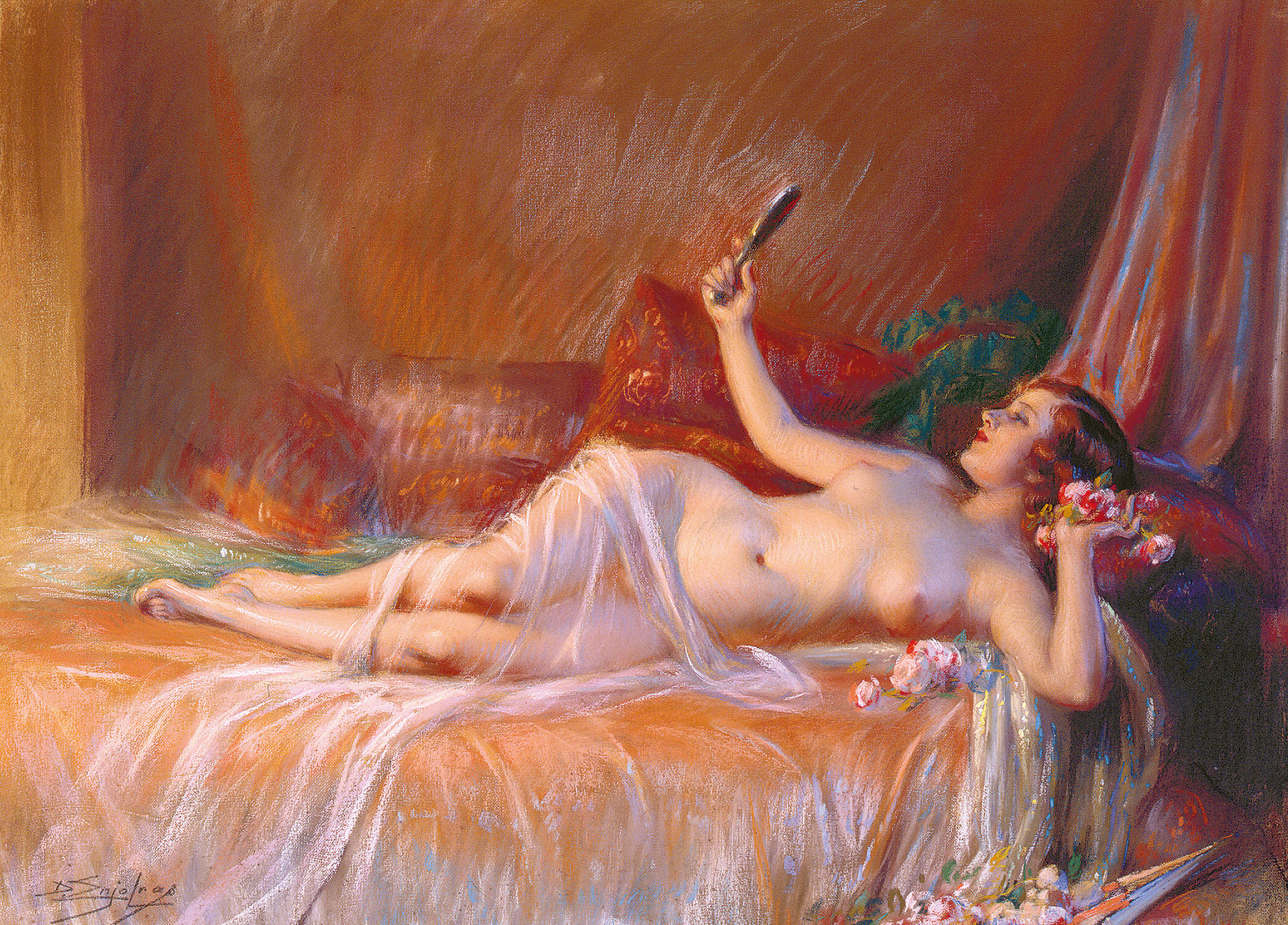 Картины эротика маслом