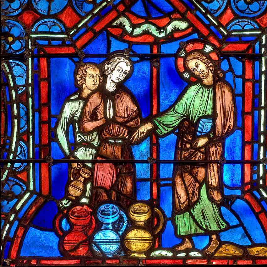 XIII  век Брак в Кане превращение воды в вино.jpg